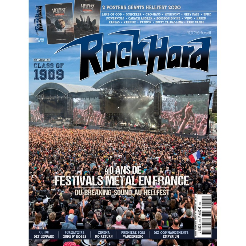 Couverture du Rock Hard n°210