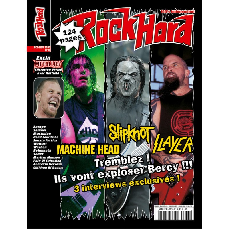 Couverture du Rock Hard n°37