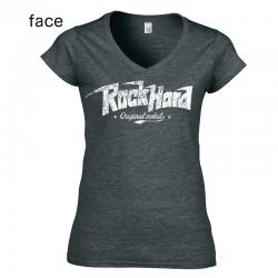 Girly Fille Rock Hard Logo...