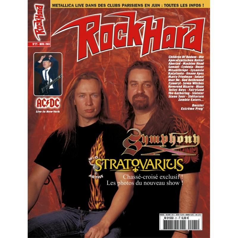 Couverture du Rock Hard n°21