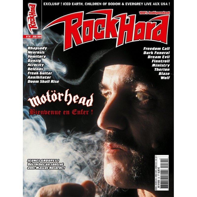 Couverture du Rock Hard n°34